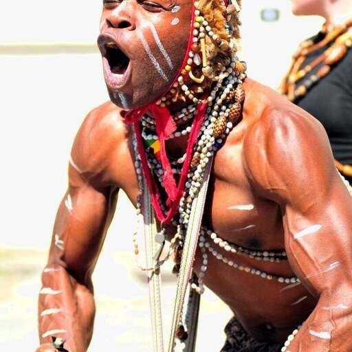 Danses et percussions aux sonorités africaines - Euloge Kimani - Danseur et chorégraphe de la troupe de Brazza à Nantes